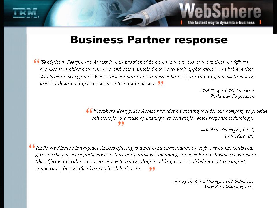 Business Partner response