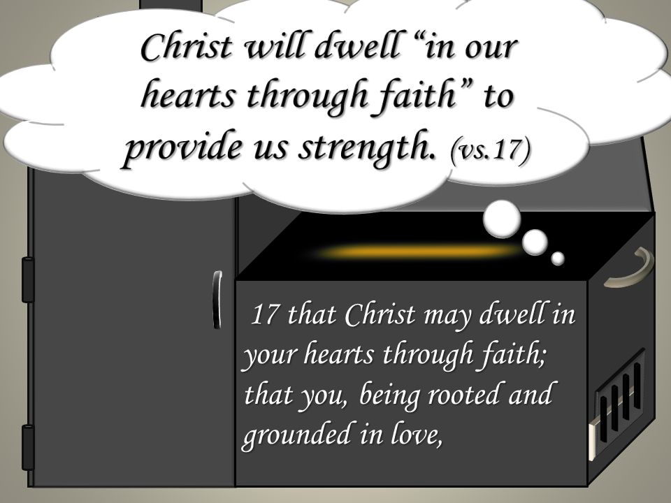 17 that Christ may dwell in your hearts through faith; that you, being rooted and grounded in love, 17 that Christ may dwell in your hearts through faith; that you, being rooted and grounded in love,