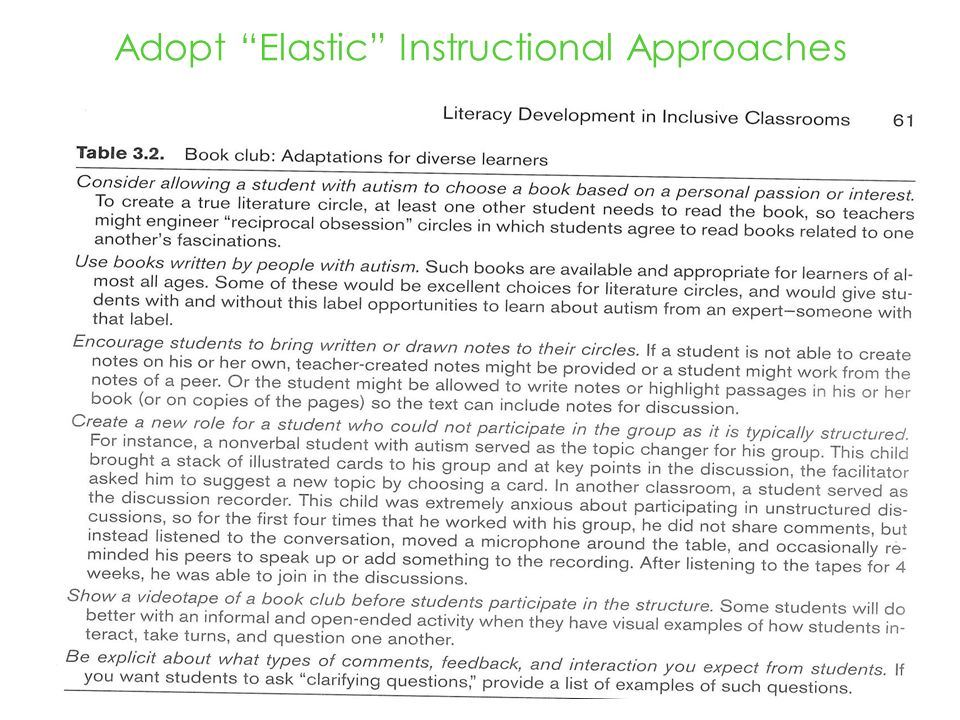Adopt Elastic Instructional Approaches