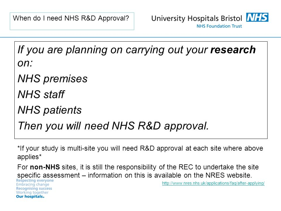 When do I need NHS R&D Approval.