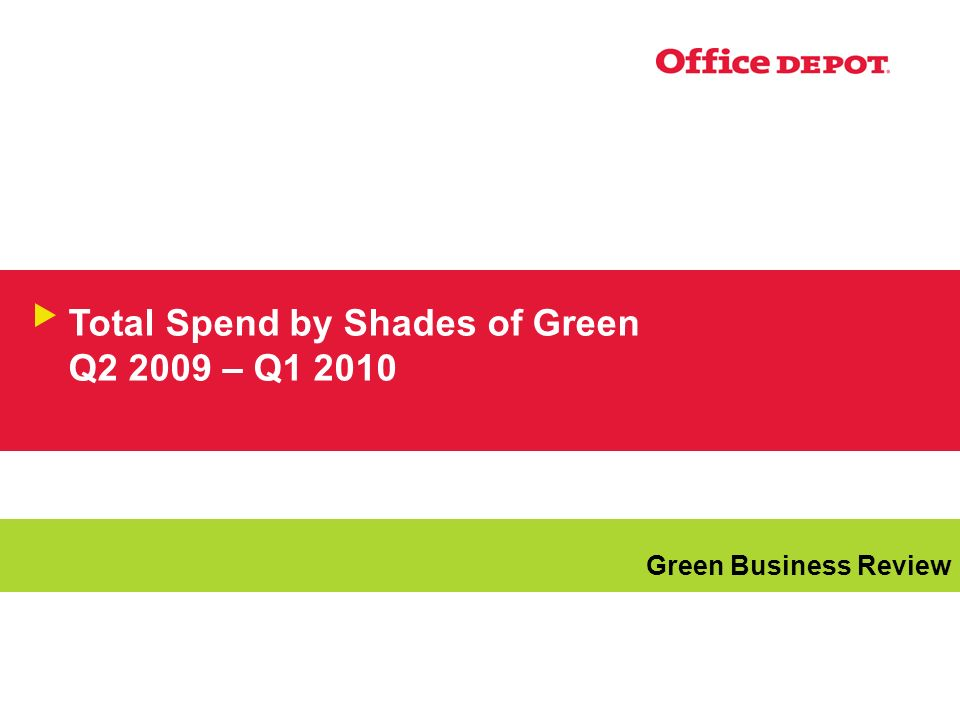 Total Spend by Shades of Green Q – Q Green Business Review