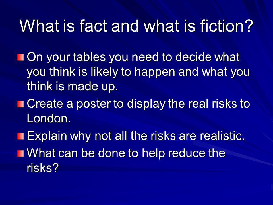 What is fact and what is fiction.
