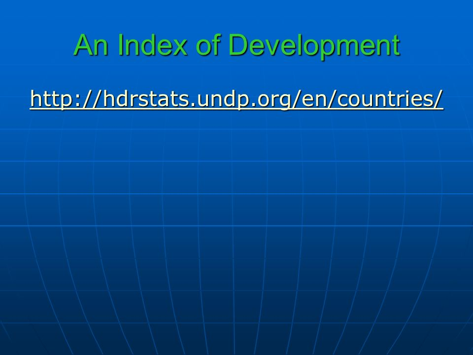 An Index of Development