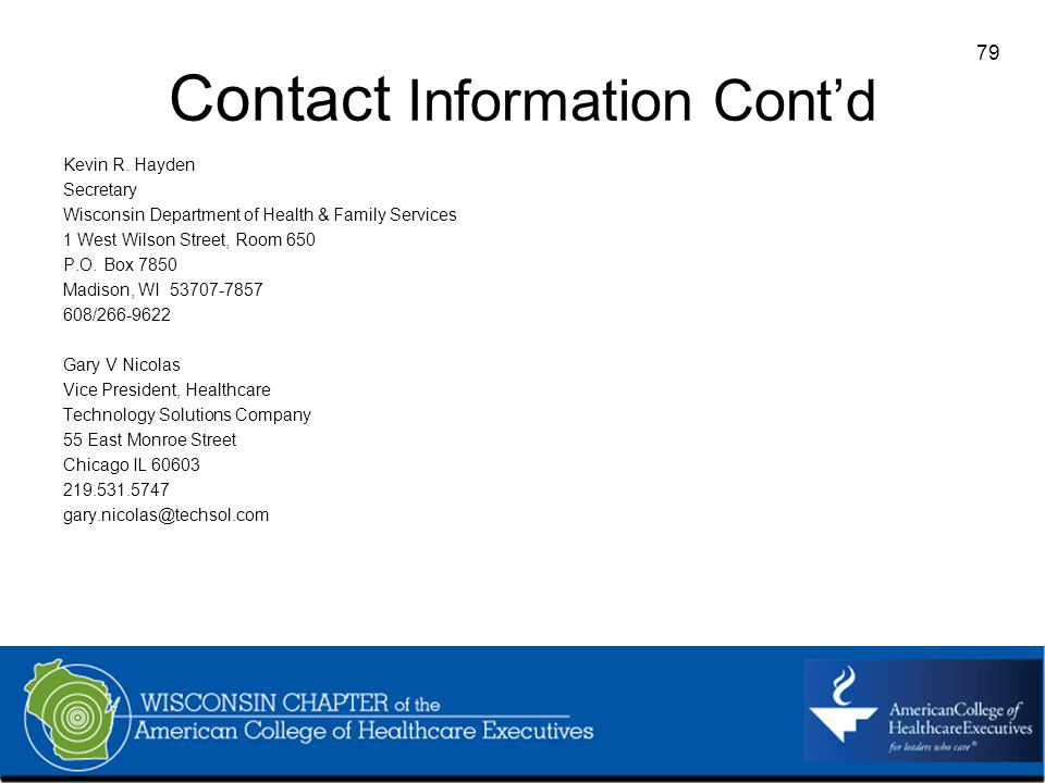 79 Contact Information Contd Kevin R.