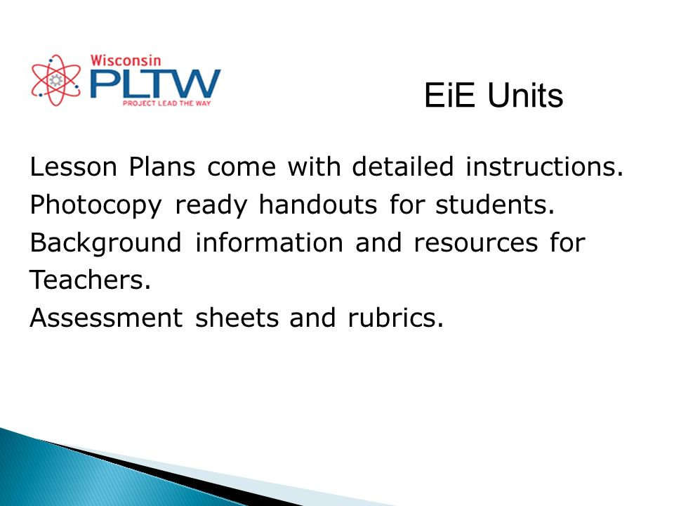 EiE Units Lesson Plans come with detailed instructions.
