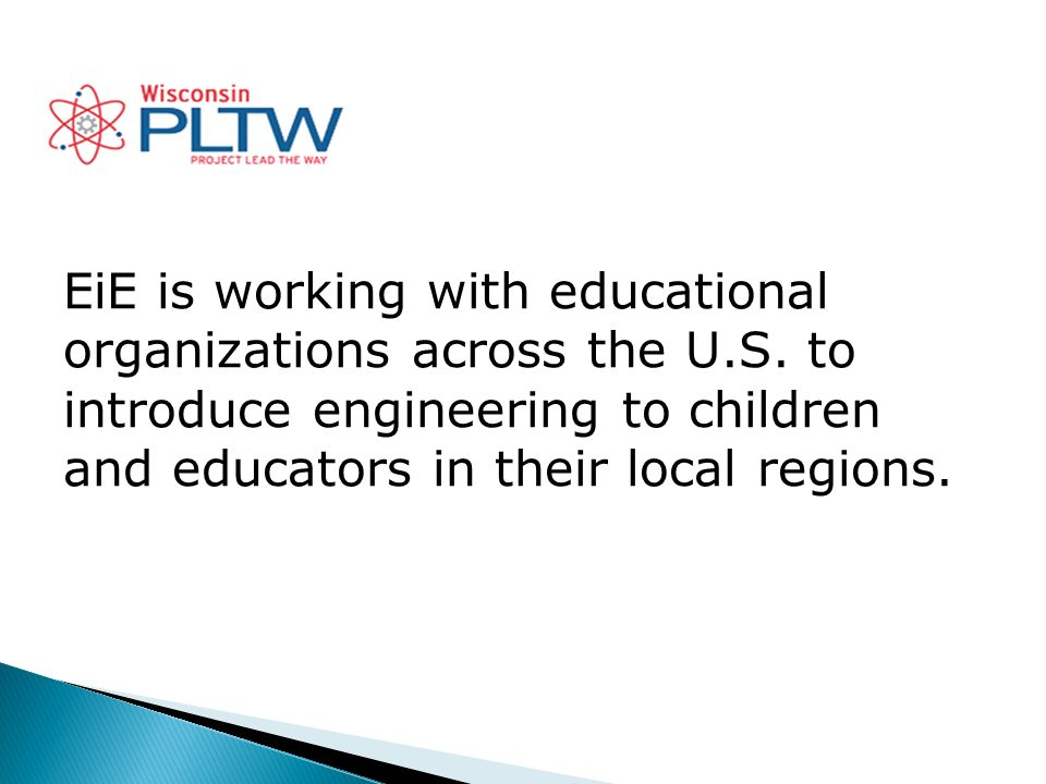EiE is working with educational organizations across the U.S.