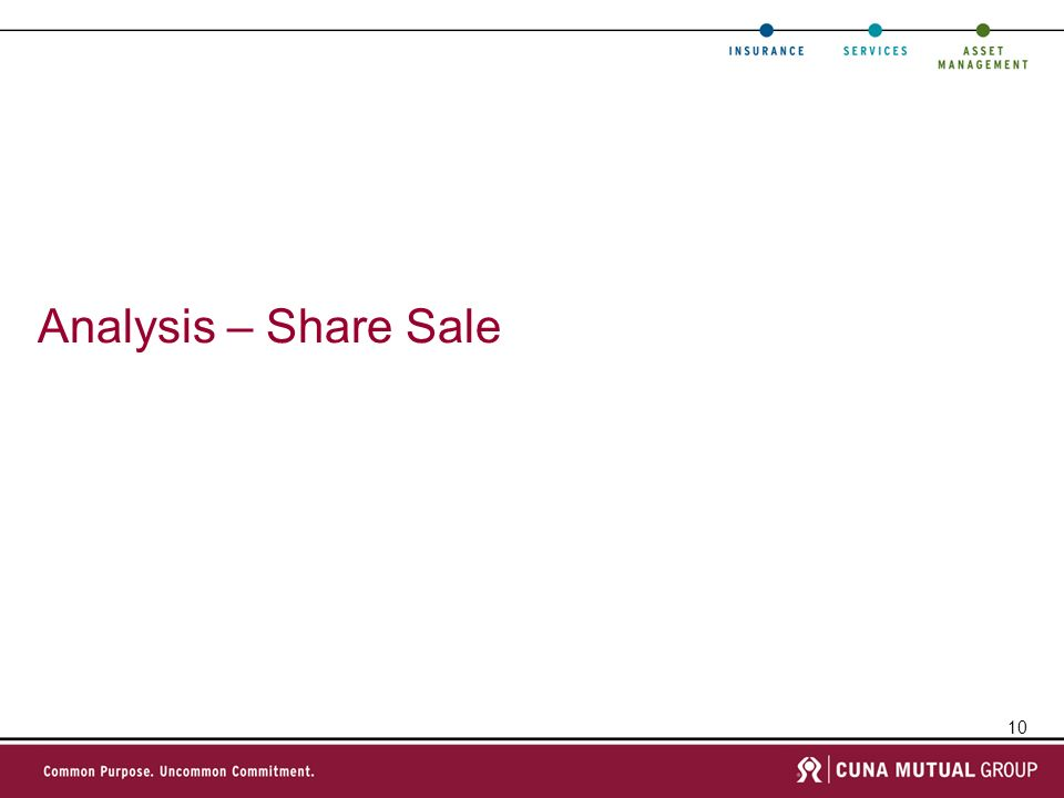 10 Analysis – Share Sale