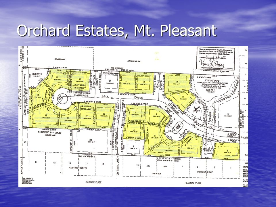 Orchard Estates, Mt. Pleasant