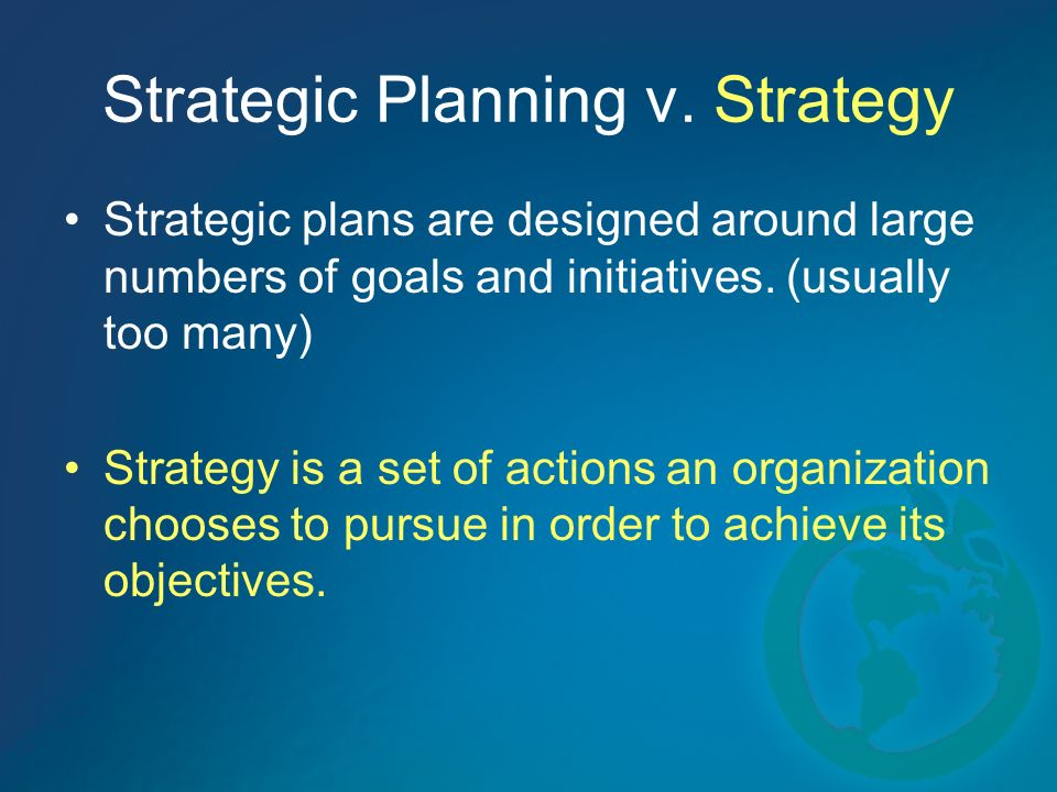 Strategic Planning v.