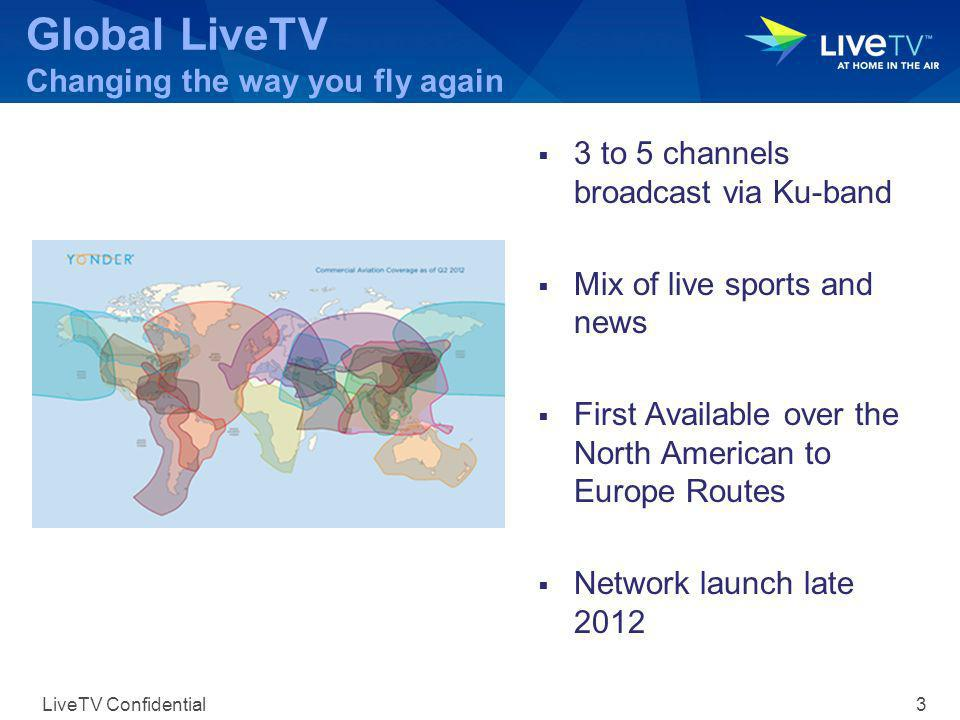Ka-Band Programs Underway 2012 first aircraft launch LiveTV Confidential 2