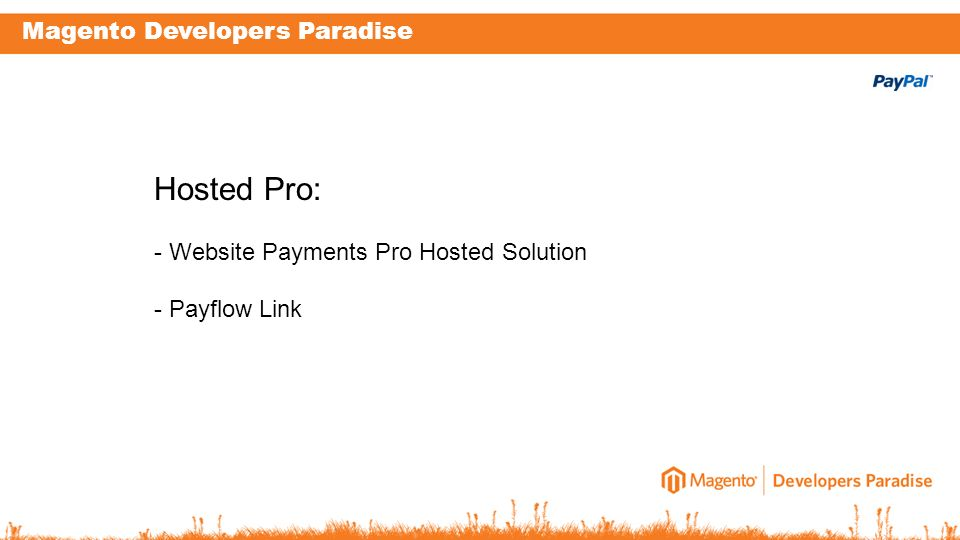 Magento Developers Paradise Hosted Pro: - Website Payments Pro Hosted Solution - Payflow Link