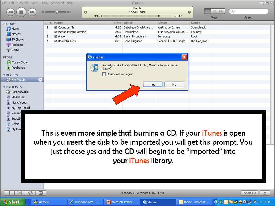 This is even more simple that burning a CD.