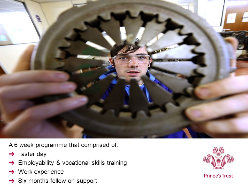 A 6 week programme that comprised of: Taster day Employability & vocational skills training Work experience Six months follow on support