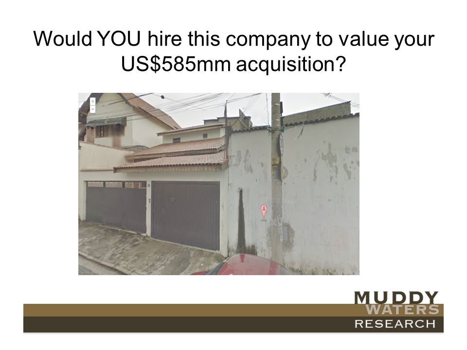 Would YOU hire this company to value your US$585mm acquisition