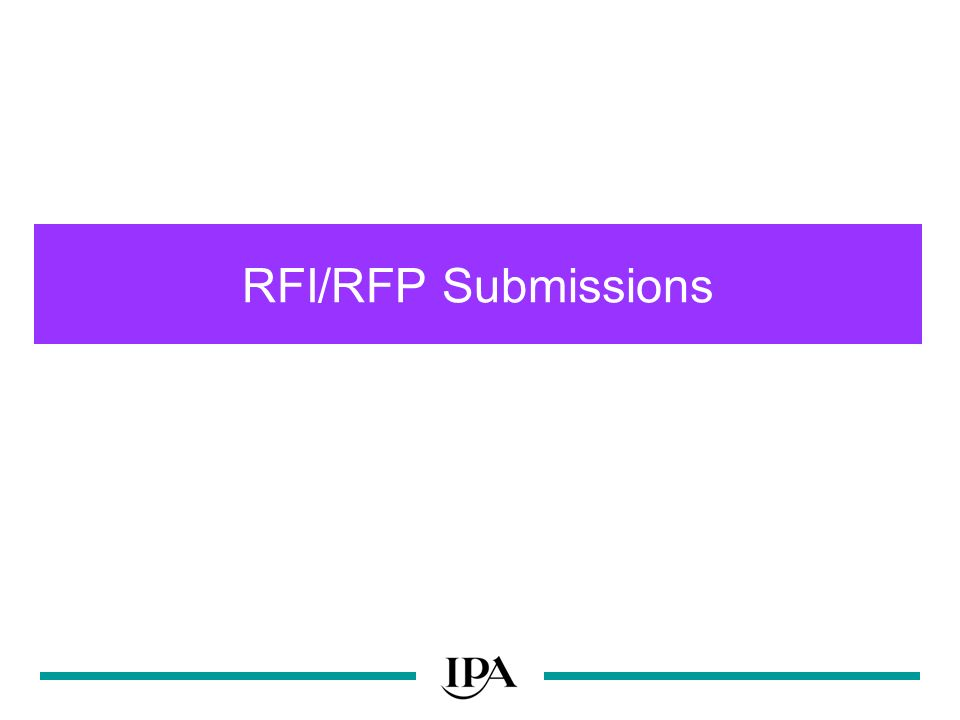 RFI/RFP Submissions