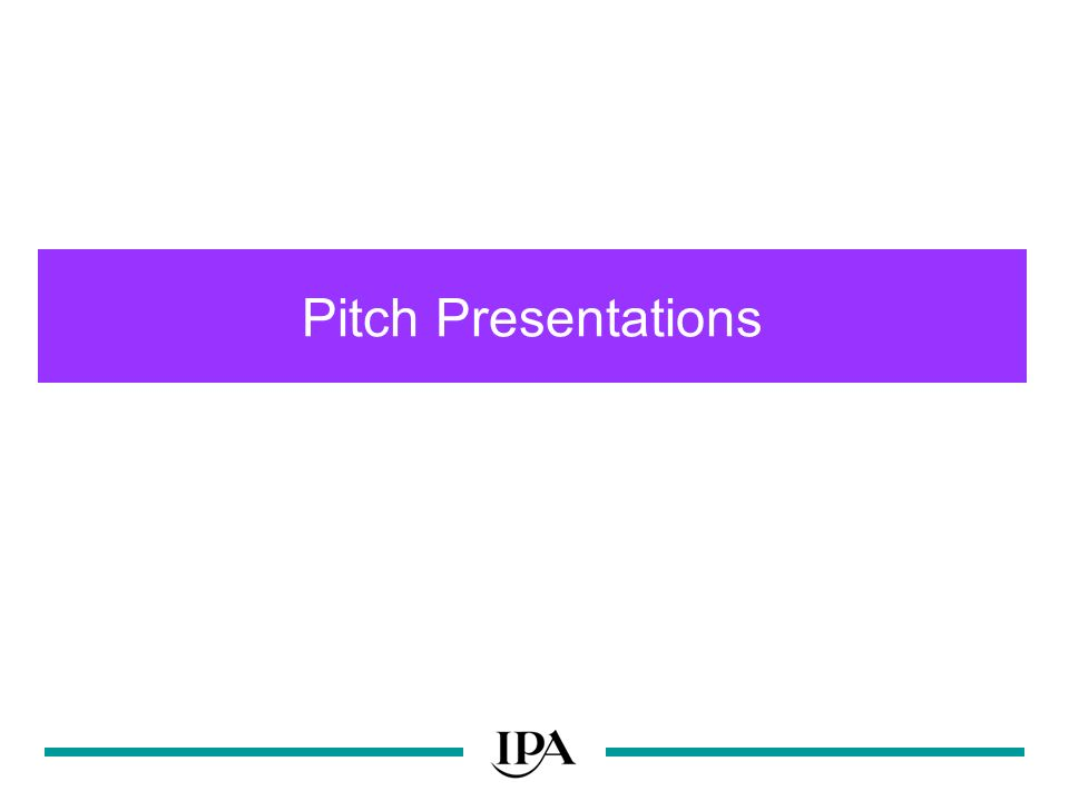 Pitch Presentations