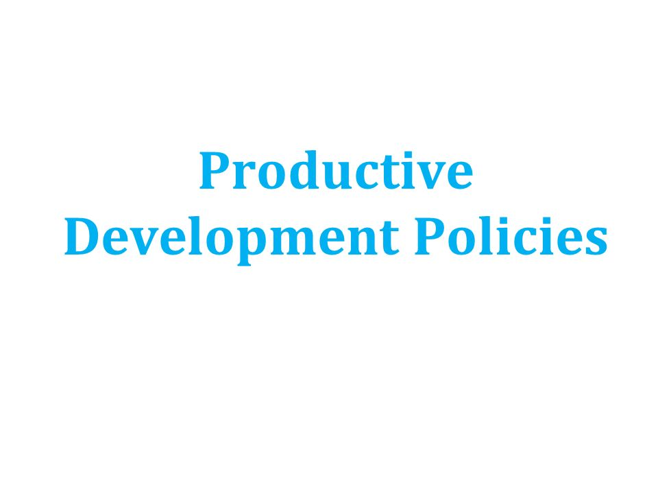 Productive Development Policies