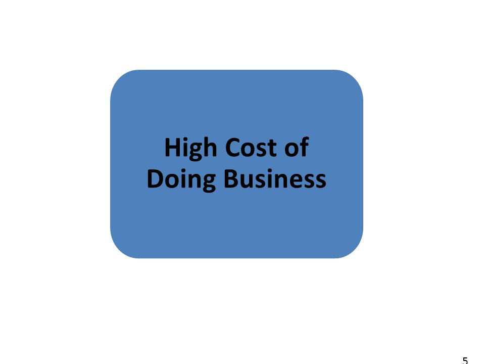 5 High Cost of Doing Business