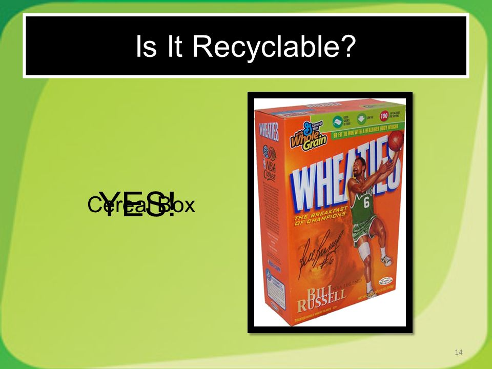 14 Cereal Box YES! Is It Recyclable