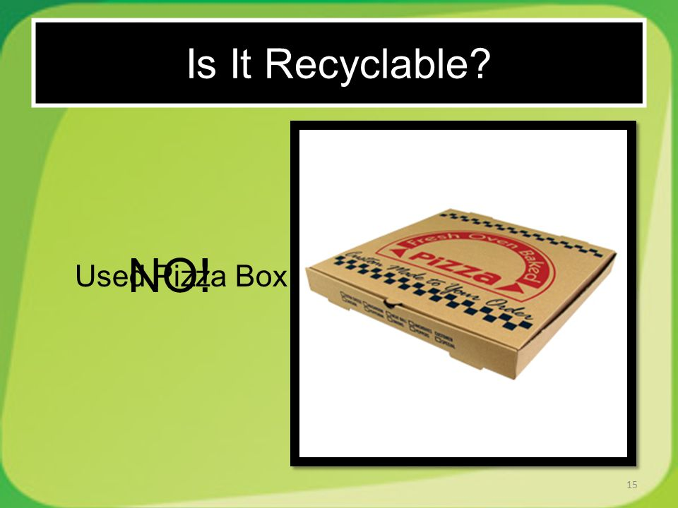 15 Used Pizza Box NO! Is It Recyclable