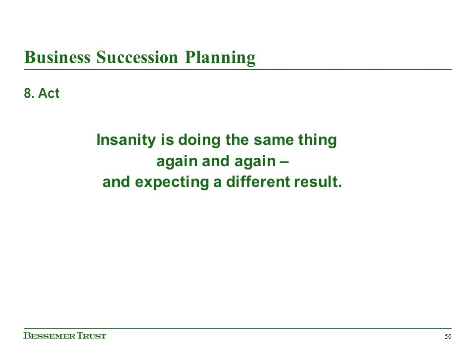 50 Business Succession Planning 8.
