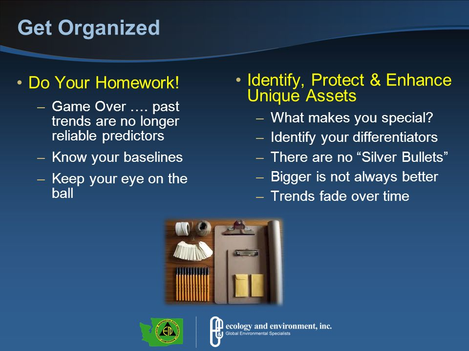 Get Organized Do Your Homework. –Game Over ….