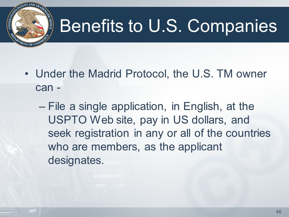 45 A basic application pending in, or abasic registration issued by, the USPTO.