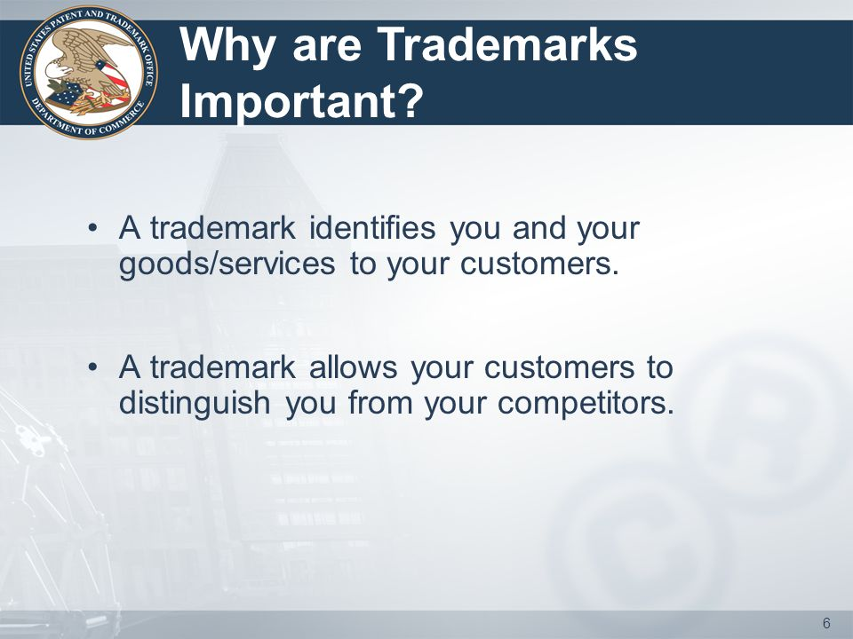5 PART I: LIFE OF A TRADEMARK