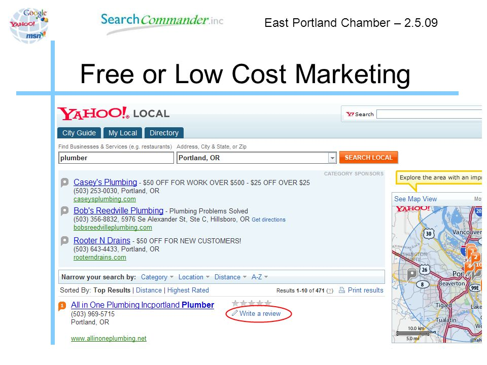 Free or Low Cost Marketing East Portland Chamber –