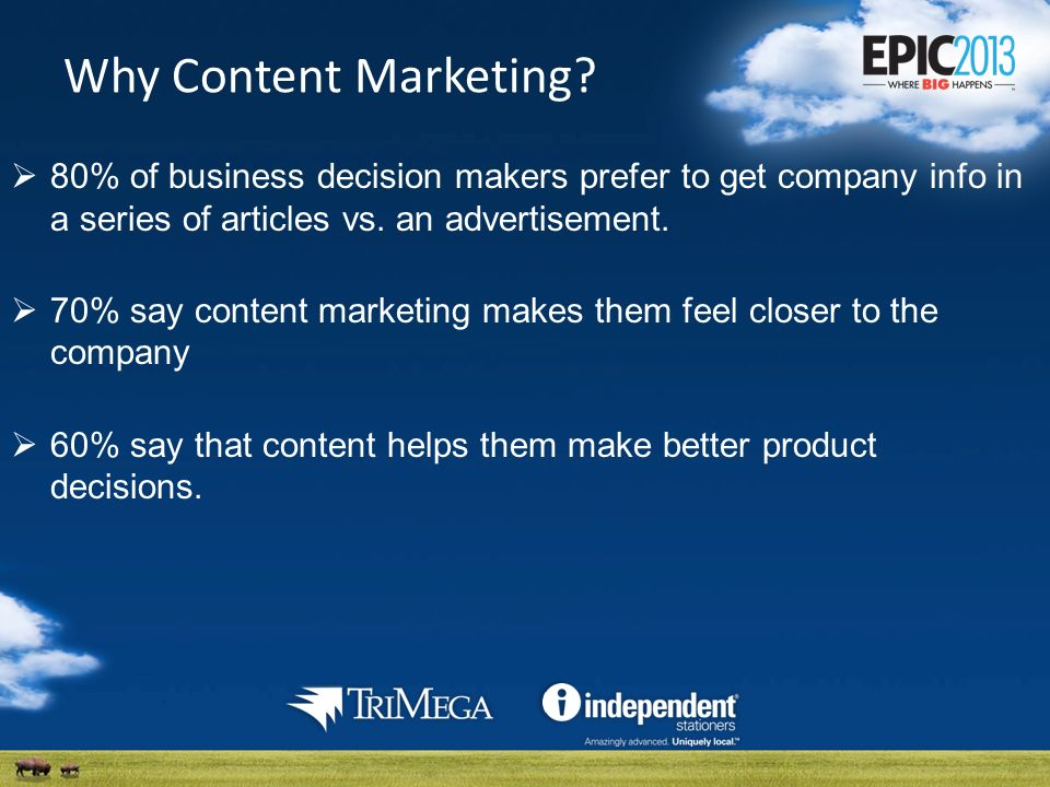 Why Content Marketing.