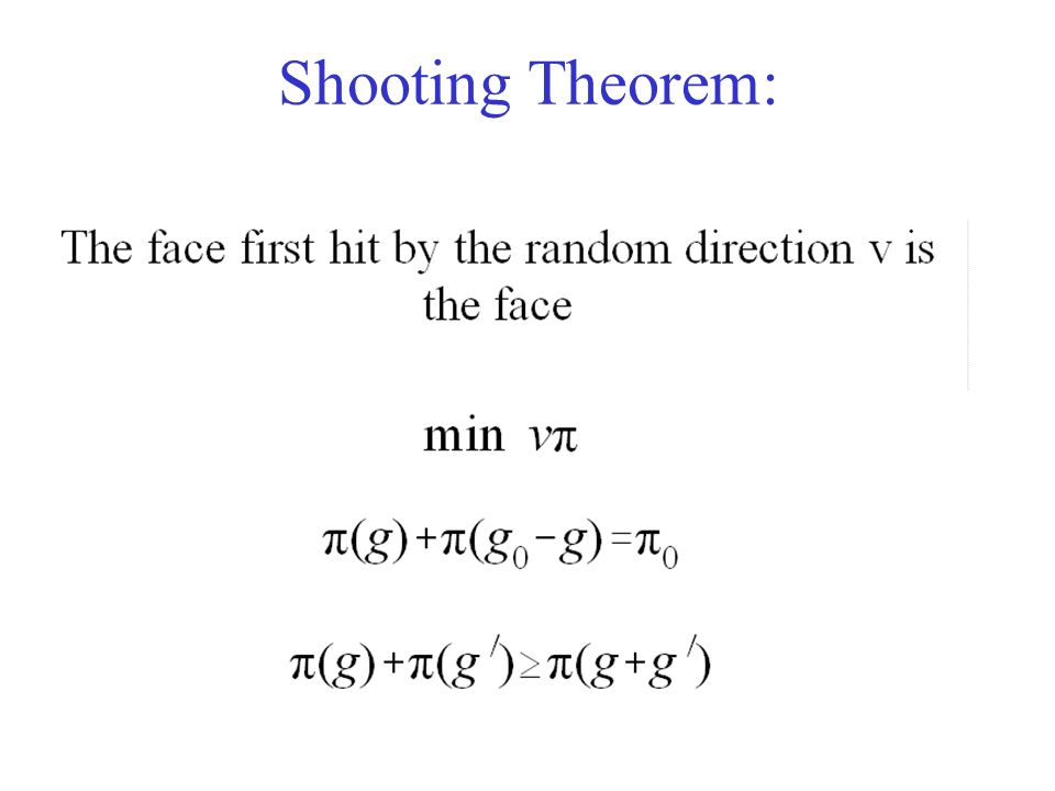 Shooting Theorem: