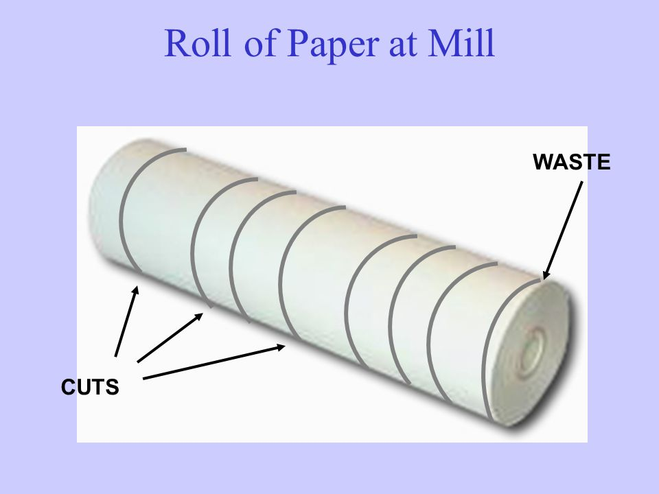 CUTS WASTE Roll of Paper at Mill