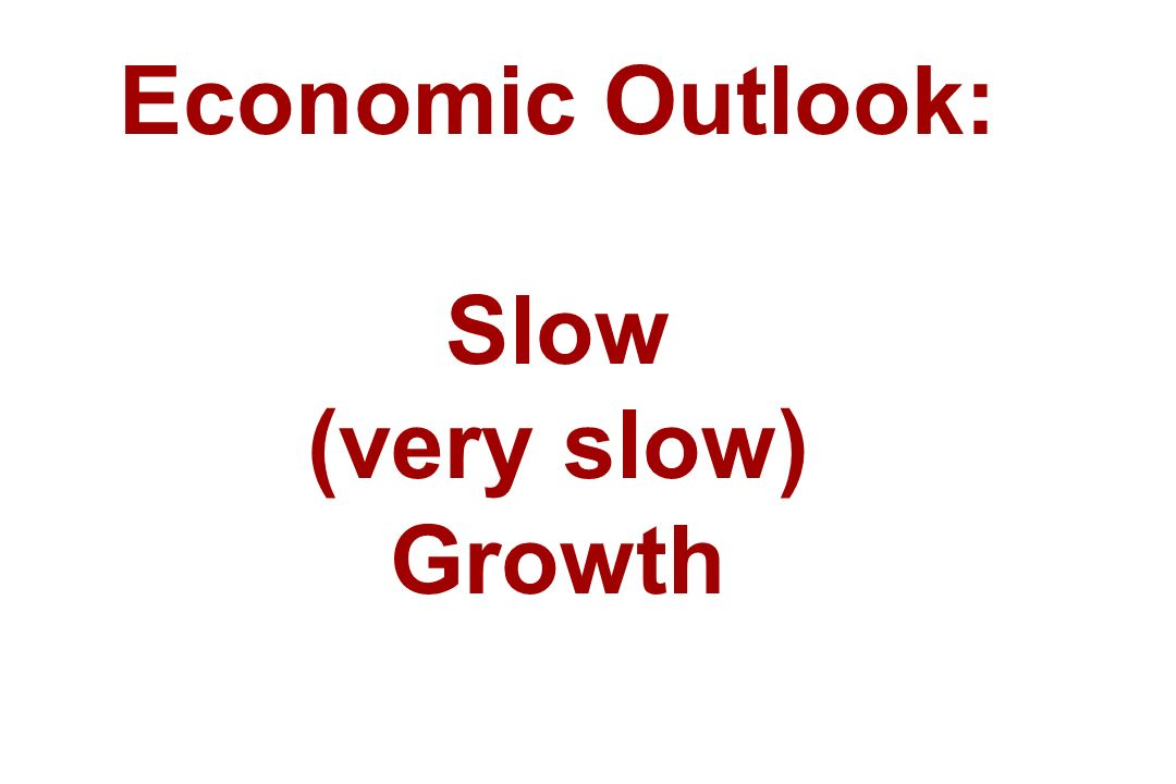 Economic Outlook: Slow (very slow) Growth