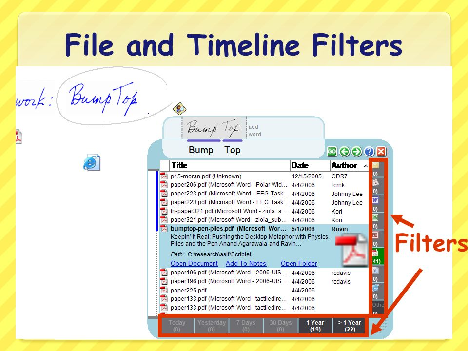 File and Timeline Filters Filters