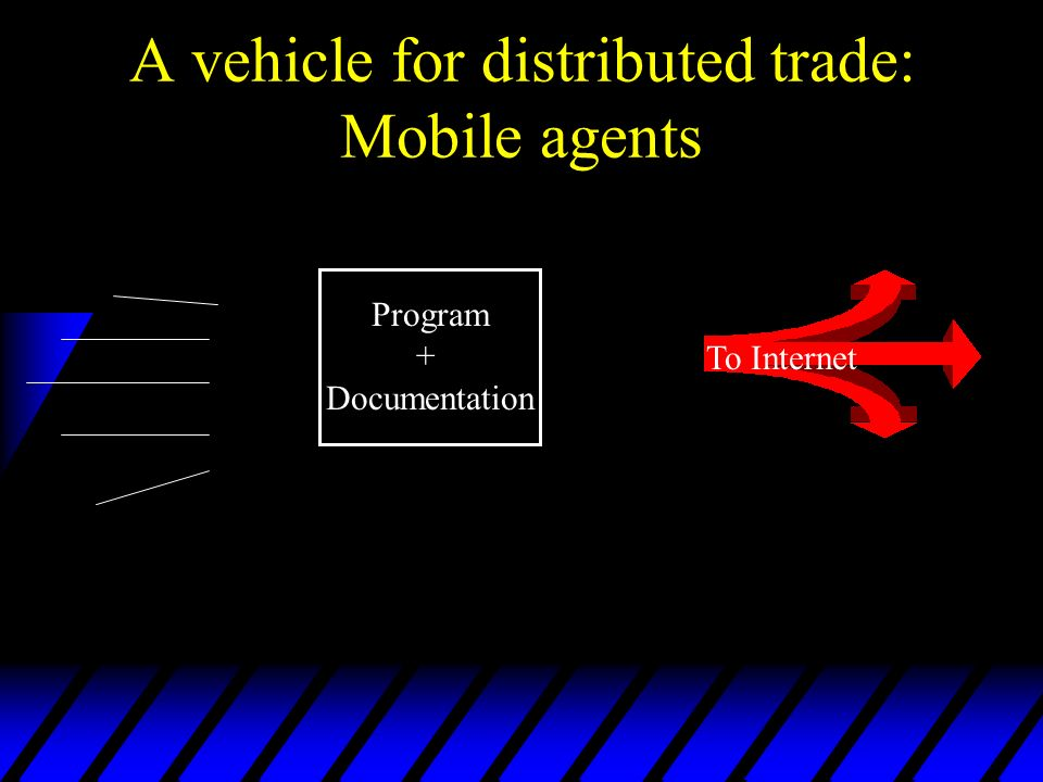 A vehicle for distributed trade: Mobile agents Program + Documentation To Internet