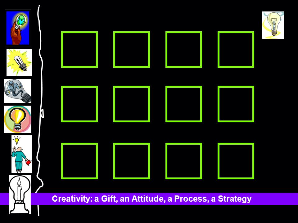 Creativity: a Gift, an Attitude, a Process, a Strategy