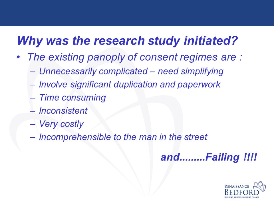 Why was the research study initiated.