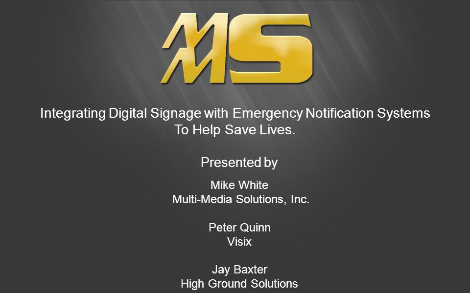 Integrating Digital Signage with Emergency Notification Systems To Help Save Lives.