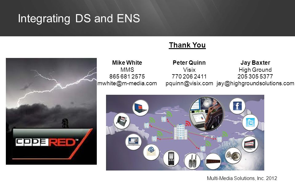 Integrating DS and ENS Multi-Media Solutions, Inc.
