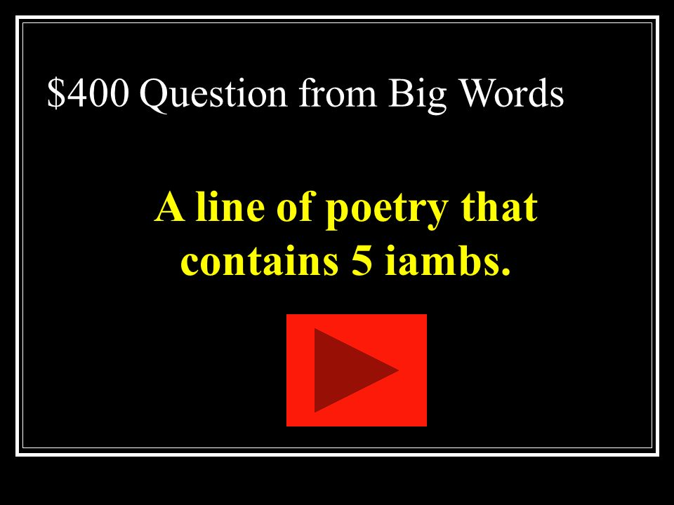 $300 Answer from Big Words What is personification