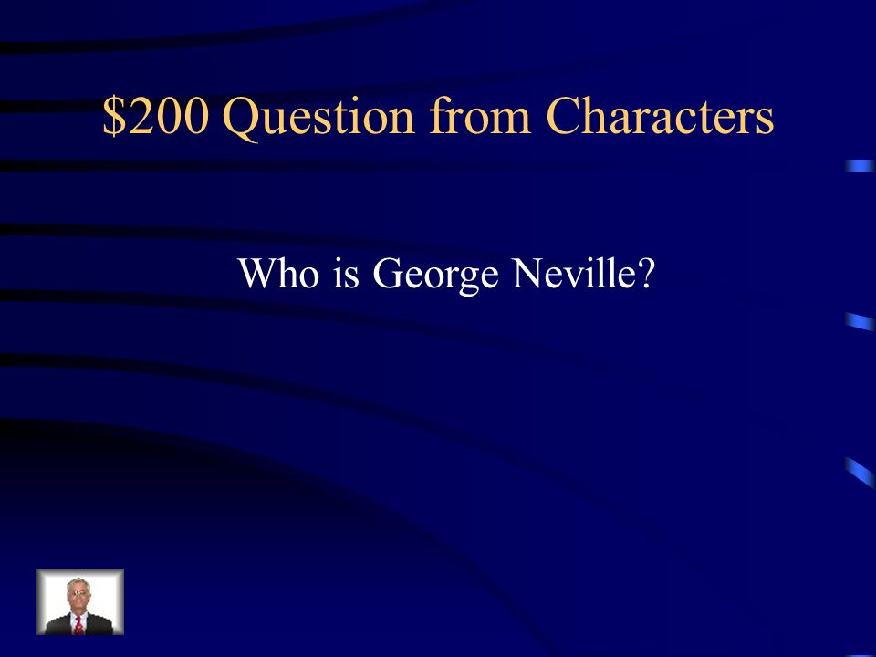 $100 Answer from Characters Alan Quatermain.