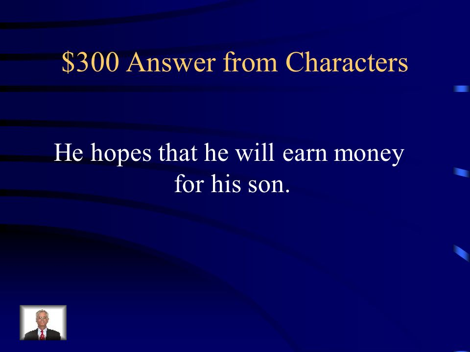 $300 Question from Characters POINT STEAL! Quatermain agrees to help Sir Henry because…