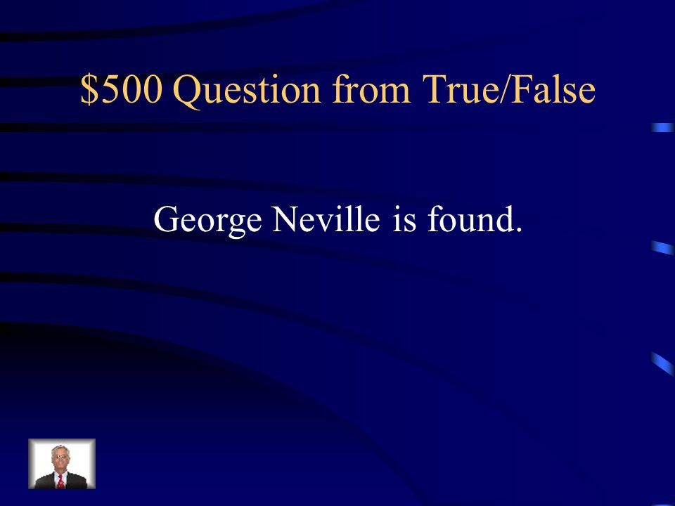 $400 Answer from True/False False: The story takes place in Africa.