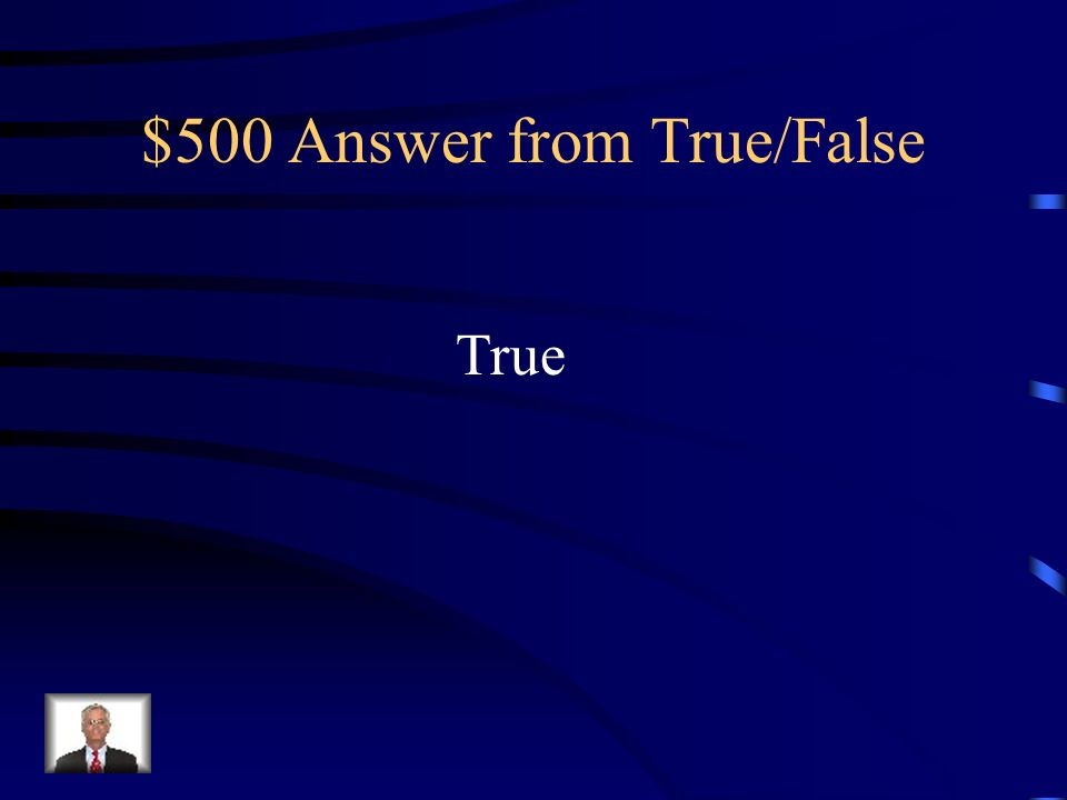 $500 Question from True/False George Neville is found.