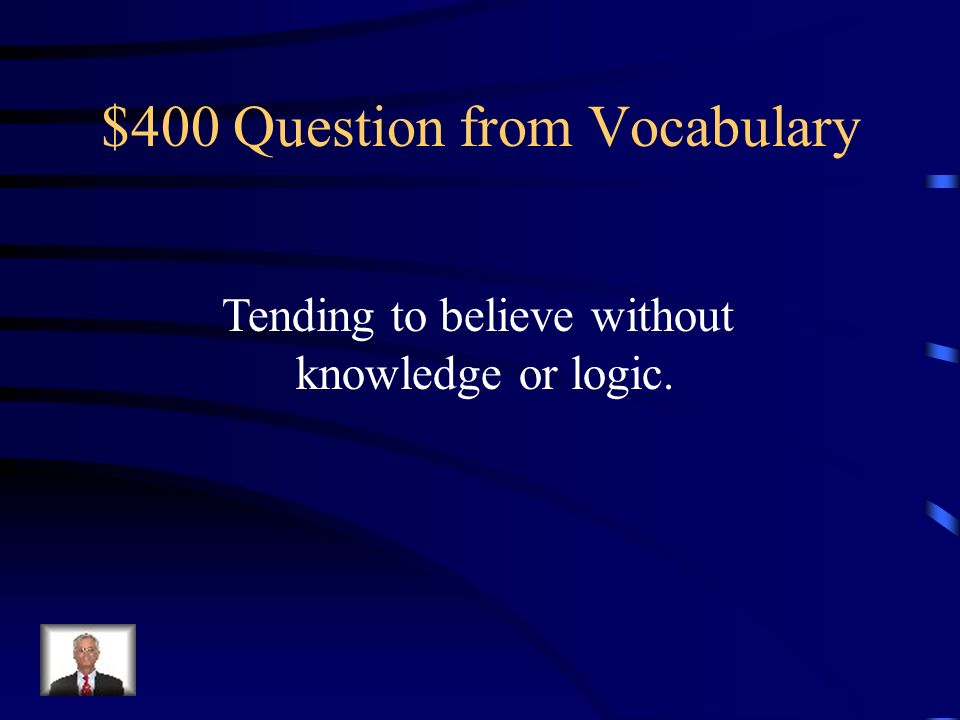 $300 Answer from Vocabulary Crucifix