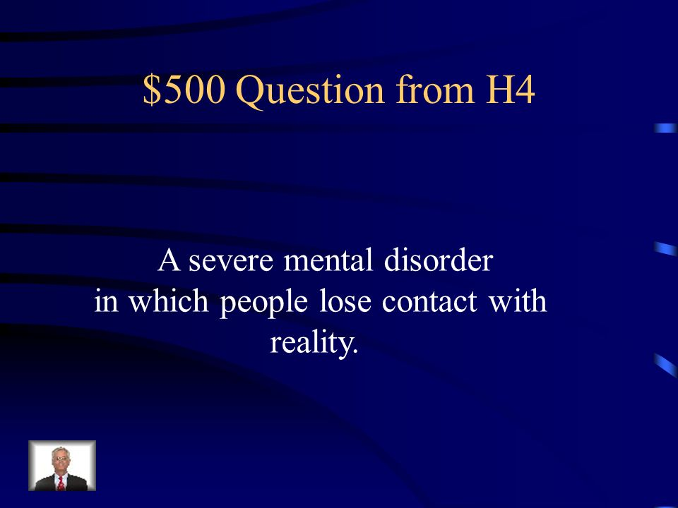 $400 Answer from H4 Major Depression