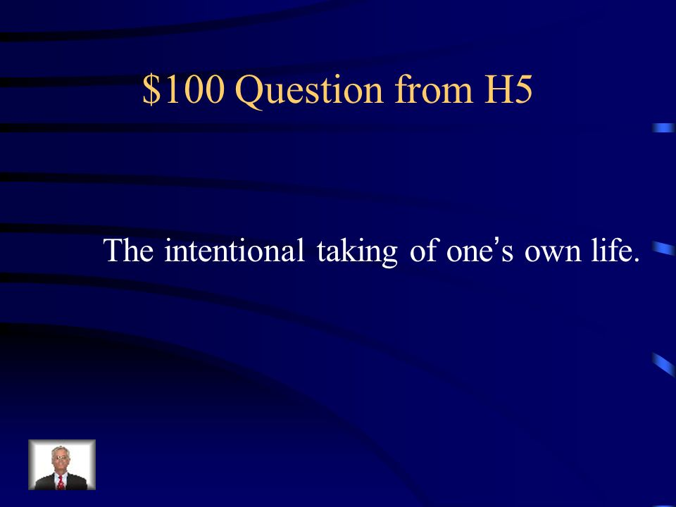 $500 Answer from H4 Schizophrenia