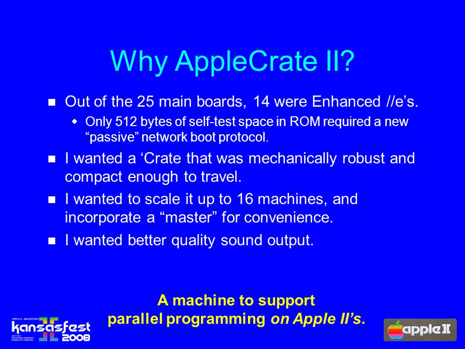 Why AppleCrate II. Out of the 25 main boards, 14 were Enhanced //es.