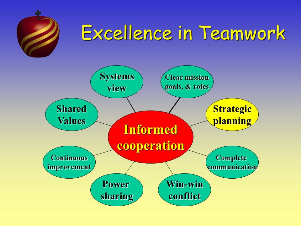 Excellence in Teamwork Develop and Maintain a Clear Mission, Goals & Roles * Information is crucial for cooperation.