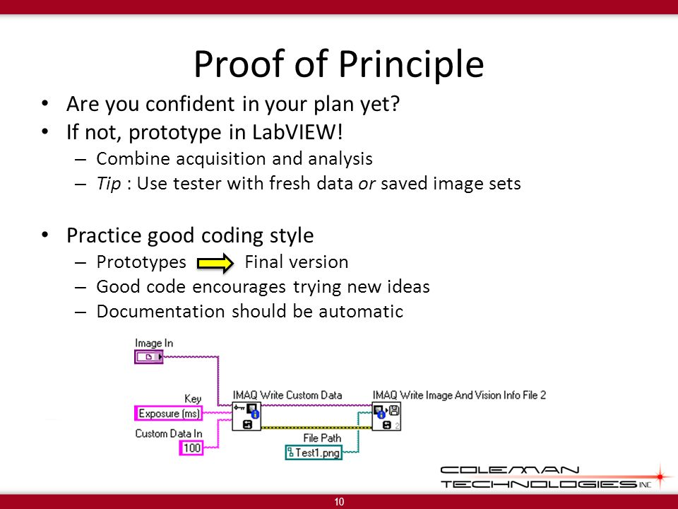 Proof of Principle Are you confident in your plan yet.